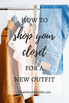 7 simple steps to learn to shop your closet for new outfits. Learn to refresh and revive your wardrobe, without adding more clothes or buying anything new! Minimalist Wardrobe, Minimalist Fashion, Minimalist Clothing, Capsule Wardrobe Mom, Wardrobe Ideas, Capsule Clothing, Clothing Staples, Wardrobe Basics, Neue Outfits