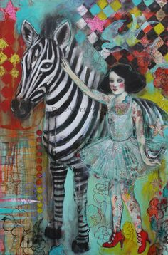 Ephemera And The Zebra by Maria Pace-Wynters  available on etsy