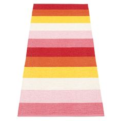 The woven plastic Pappelina MOLLY Summer runner embraces a simple stripe design in bright hues, perfect when you want to add a splash of colour in a room. Carpet Runner, Rug Runner, When Is My Birthday, Unique Toys, Royal Design, Soft Plastic, Carpet Stairs, Home Decor Furniture, Stripes Design
