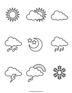 Permalink to Het weer [the weather] Autism Preschool, Preschool Crafts, Weather Crafts, English Time, Felt Coasters, Letter Activities, School Organization, Creative Art, Art For Kids