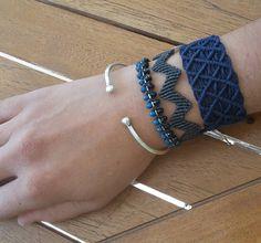 #blue #grey #totonaki #macrame #macrameart #macramejewelry #jewelry #boho…