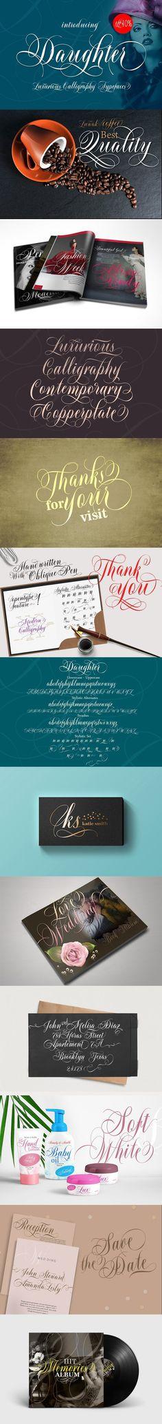 Daughter Script 40% 0FF. Script Fonts. $17.00