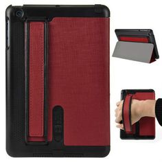 Speaker Amplifier Design Folio Stand Leather Case For iPad Mini - Red Ipad Mini Accessories, Iphone Parts, Speaker Amplifier, Leather Working, Ipad Case, Leather Case, Keyboard, Apple, Cover