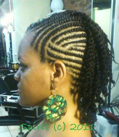 Cornrows and 2 Strand Twists. Beautiful braid pattern!