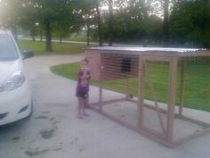 Chicken tractor with small coop