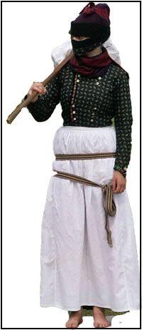 Traditional Danish working outfit, the Fanoe dress. | Fanødragten - Arbejdsdragt