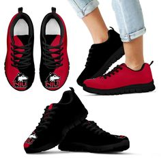 Two Colors Trending Lovely Northern Illinois Huskies Sneakers – Best Funny Store
