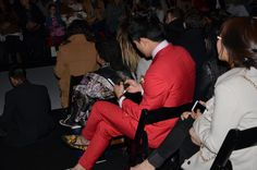 Man in Red. Runway Magazine, Toronto Fashion Week, Canada, Fall 2015, Red, Rouge
