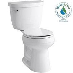 KOHLER Cimarron Comfort Height 2-piece 1.28 GPF Round Toilet with AquaPiston Flush Technology in White-K-3887-0 - The Home Depot
