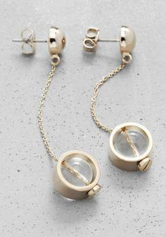 globe pendant earrings