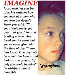 Awe babe I love you Jacob makes you happy hugs