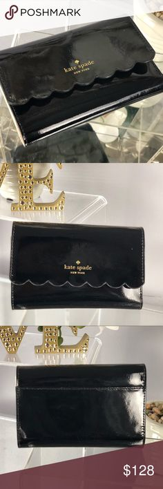 Kate Spade Kieran Lily Avenue Black Patent Wallet Kate Spade Kieran Lily Avenue Black Patent Wallet  NWT...Brand New Color: Black Patent and Soft Porcelain   *Bag sold separately in my closet kate spade Bags Wallets