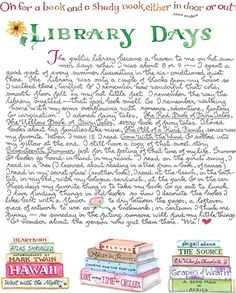 Library Days by self taught artist Susan Branch.