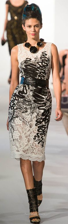 Oscar De La Renta Spring Summer Ready to Wear 2013. Dress? Yeah, and maybe I could diy it. Necklace? Hellllll no.