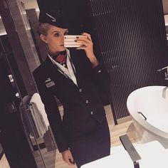 Fly Girls, Girls Wear, British Airways Cabin Crew, Flight Attendant, Skirt Suit, Stylish Men, Handsome, Beautiful Women, Female