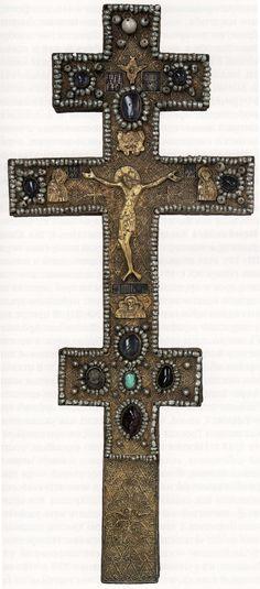 Крест воздвизальный. Москва, мастеские Кремля, 1553