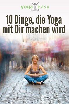 Yoga macht gesund, glücklich und entspannt! Probier's aus!