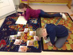 PY 2&3 Uke 11: Kan du lage en historie ut av et sett med 8 bilder? Hva tror du skjer først? Elevene storkoste seg i gruppene og lot fantasien overta:) Vi gleder oss til noen spennende historier:)