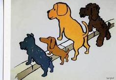 「清潔な町キャンペーン」の広告ポスター。「犬4匹が見張っていますよ」という内容です。こんな可愛い犬たちに見張られては…きれいにするしかないですね。