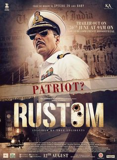 Rustom is an upcoming Bollywood film written by Vipul K Rawal and directed by Tinu Suresh Desai. Watch Akshay Kumar in Rustom trailer. Rustom Movie, Movie Songs, Movie Info, Imdb Movies, New Movies, Films, Movies Free, 2016 Movies, Latest Movies