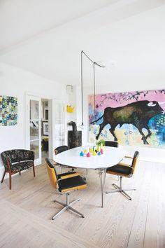 Så skævt og flot bor designeren Helene Jensen - Bolig Magasinet