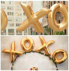 Xoxo 40 Inch Gold Foil Balloon Hey Bride Wedding / by HeyBride