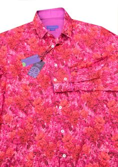 Damask Rose, a beautiful Liberty floral in pink and orange – Nineteenthirty Menswear