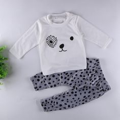 2016 New cute kids clothes girl boys baby longsleeve cotton suits baby clothes retail newborn baby. Click visit to buy #BabyGirlClothingSet #BabyGirl #ClothingSet