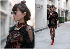 Linda Hao, Singapore  #streetstyle #streetfashion #fashion #style #photography