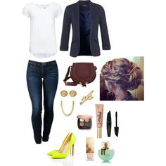 A fashion look from January 2015 featuring 2nd Day t-shirts, Miss Selfridge blazers and THVM jeans. Browse and shop related looks.