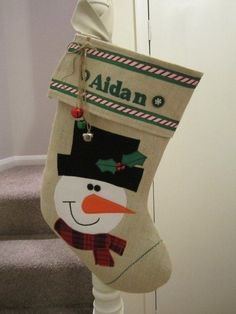 Personalised Christmas Stocking - Folksy