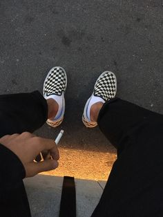 just take a cigarette and hush streetstyle black pants chinos obey vans checkered all in black cord jacket light dark aesthetic grunge tumblr 90s 80s vintage retro gay boy asian brown skin