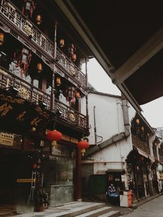 Ancient streets in Hangzhou city