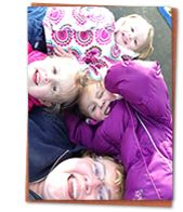 Let someone capture some candid photos of you laughing. Your family will LOVE those photos for generations to come