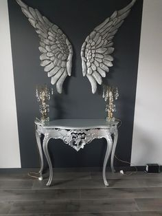 Angel Wings Painting, Angel Wings Art, Angel Wings Wall Decor, Angel Decor, Entryway Decor, Bedroom Decor, Cross Wall Decor, Home Room Design, Eclectic Decor