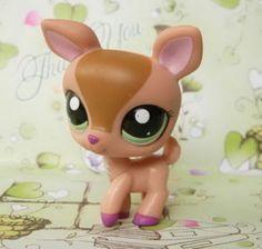 Littlest Pet Shop Tan Green-Eyed Deer <3