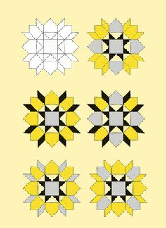 The Joy of Pattern Development - samples for Swoon block by Anjeanette, via Flickr