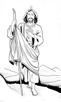 Saint Jude Thaddeus coloring page 2