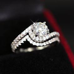 unendlich Welle Ring Verlobungsring Ehering von ShineJewelryStore