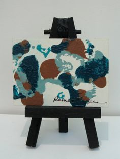 My Favorite Colors  ACEO Original painting  by barbararemensnyder, $10.00