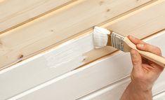 Holzdecke Streichen Mit Aqua Holz Isolier  Und Deckfarbe #jaegerlacke # Holzdecke #isolierfarbe
