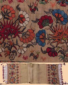 Greek Island Embroidery Silk and Silver thread Sash. Embroidery Patterns Free, Diy Embroidery, Textile Patterns, Textiles, Bordado Floral, Greek Design, Fabric Embellishment, Lesage, Greek Art