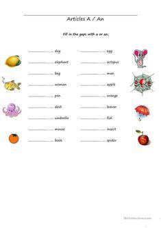 Grade 1 Grammar Lesson 6 Articles