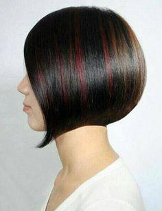 -pin it from carden Latest Hairstyles, Bob Hairstyles, Dark Bob, Short Bob Cuts, Sleek Bob, Layered Bobs, Coloured Hair, Oscar, Brunette Hair