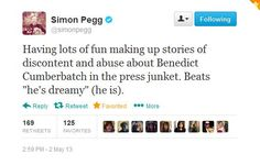 Yet another reason to love Simon Pegg!