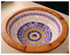 Cubas de madeiras em mosaico