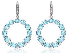 The Duchess of Cambridge's Kiki McDonough blue topaz earrings worn Nov. 13, 2014.