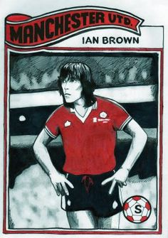Stone Roses frontman Ian Brown is immortalised here in the 1977 @manutd home strip. The singer is a lifelong Red and attends home games regularly.