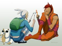"""""""F is for Fionna and Flame Prince: by doubleleaf.deviantart.com"""