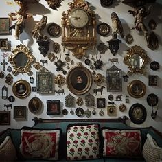 the ultimate gallery wall. Home Decor Instagram, Goth Home Decor, Gothic House, Gothic Room, Aesthetic Bedroom, Dream Rooms, Tattoo Studio, Decoration, Room Inspiration